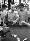 Eastern Airline Employee Eddie Rickenbacker Losing Money at an Eal Mechanics Picnic Premium Photographic Print