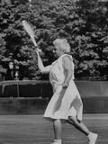 Hazel Wightman Playing Tennis, Photographic Print