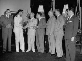President Harry S. Truman Awarding the National Peace Treaty Contest Prizes Premium Photographic Print
