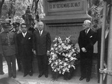President Harry S. Truman and Mexican Ambassador Walter Thurston Visiting Chapultepec Monument Premium Photographic Print