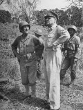 American General Douglas Macarthur Taking Tour of the Bataan Penninsula Premium Photographic Print