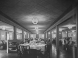 Interior of Dining Hall in B.O.Q Premium Photographic Print