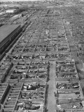 Aerial View of Pens Containing Beef Cattle at the Union Stockyards Premium Photographic Print