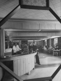 Interior of Bar in Bachelor's Officers Quarters Premium Photographic Print