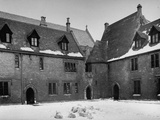 Exterior of Merton College at Oxford University Premium Photographic Print