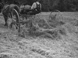 Farmer Working in Field Premium Photographic Print