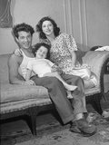 Boxer Rocky Graziano Relaxing with His Family Premium Photographic Print