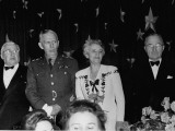 General George C. Marshall and President Harry S. Truman Attending 1000 Club Dinner Premium Photographic Print