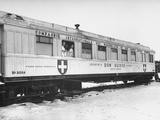 A Railroad Car Converted into a Travelling Dentist Office by the Swiss Relief Agency Premium Photographic Print