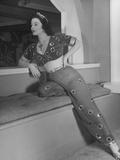 Opera Singer Mimi Benzell Posing in Costume Premium Photographic Print