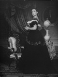 "Actress Gene Tierney, Performing in the Motion Picture, ""Dragonwick"" Premium Photographic Print"