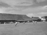 A View of a Baseball Game at the Manila Polo Club Premium Photographic Print