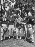 Football Coach Earl Blaik Working with Players Felix Blanchard, Glenn Davis, and Thomas Mcwilliams Premium Photographic Print