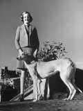 Lady Rosemary Posing with Lady Sarah's Dog Premium Photographic Print