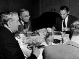 Senator Tom C. Connally, Senator Harry Truman and Senator James Forrestal Having a Meal Together Premium Photographic Print