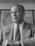 Director of Sesp Dr. George Saunders, Holding a Cigarette Premium Photographic Print