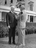 President Harry S. Truman Presenting Harold Bruce with the Legion of Merit Premium Photographic Print