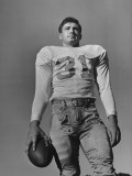 Football Player Peter Layden of the University of Texas Holding the Football Premium Photographic Print