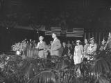 President Harry S. Truman Standing Behind Podium Premium Photographic Print