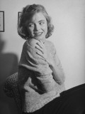 Actress Dorothy Mcguire Posing in Sweater Premium Photographic Print