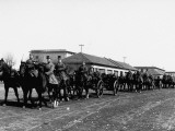 A View Showing Czechoslovakian Soldiers Riding a Horse Cavalcade Premium Photographic Print