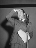 Bob Hope During Show for Soldiers During WWII Premium Photographic Print