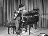 Comedian Jimmy Durante and Partner Eddie Jackson Performing their Act Premium Photographic Print