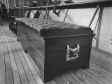 A Coffin Like Storage Chest Sitting on the Deck of President Harry S. Truman's Yacht Premium Photographic Print