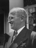 Closeup of President Harry S. Truman the Day before Celebrating His Birthday Premium Photographic Print