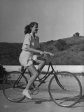 Actress Rita Hayworth, Warming Up before the Picnic Starts Premium Photographic Print