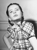Child Star Margaret O'Brien Doing an Impersonation of Actress Marlene Dietrich Premium Photographic Print