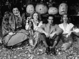 Radio Actress Adelaide Klein and June Havoc Sitting with Doris Dudley at Her Halloween Party Premium Photographic Print
