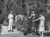 Family Going Horseback Riding Premium Photographic Print