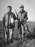 Pheasant Hunters Posing with Birds They Shot During Hunt Premium Photographic Print