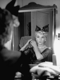 Actress Gloria Grahame Wearing Large Bow in Her Hair Premium Photographic Print