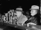 Vp Harry S. Truman Listening to FDR Radio Address Photographic Print
