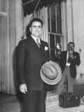 An Ambassador Leaving after Having Met with President Harry S. Truman Premium Photographic Print