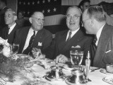 President Harry S. Truman Enjoying a Dinner While Visiting Missouri Premium Photographic Print