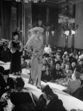 B. Barri's Wedding Fashion Show, Featuring a Divorcee in Gold Crepe Premium Photographic Print