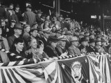 President Harry S. Truman Sitting in the Stands at Opening Game of Baseball Season Premium Photographic Print