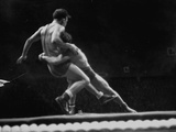 Athletes Wrestling at 1952 Olympics Photographic Print