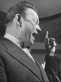 Comedian Fred Allen Wearing Bow Tie During Broadcast Premium Photographic Print
