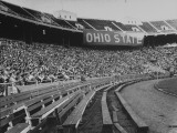 The Convocation of Students Being Held in the Football Stadium at Ohio State University Premium Photographic Print