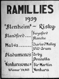 Sign at Horse Farm Detailing Stud History of Horse Named Ramillies Premium Photographic Print