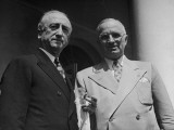 Newly Appointed Secretary of State James F. Byrnes and President Harry Truman Posing Together Premium Photographic Print