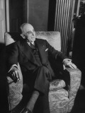 Joseph E. Davies in London Hotel Room, on a Special Mission from President Harry S. Truman Premium Photographic Print