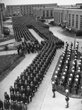 Texas A&M Rotc Cadet Corps Standing in Formation Premium Photographic Print