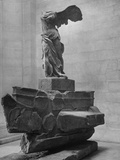 The Winged Victory of Samothrace Statue in the Louvre Museum, Probably Dating from Third Photographic Print