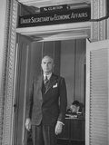 Government Official William L. Clayton Posing for a Picture Premium Photographic Print