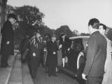 President Harry S. Truman and His Wife Arriving at the US Capitol Building Premium Photographic Print